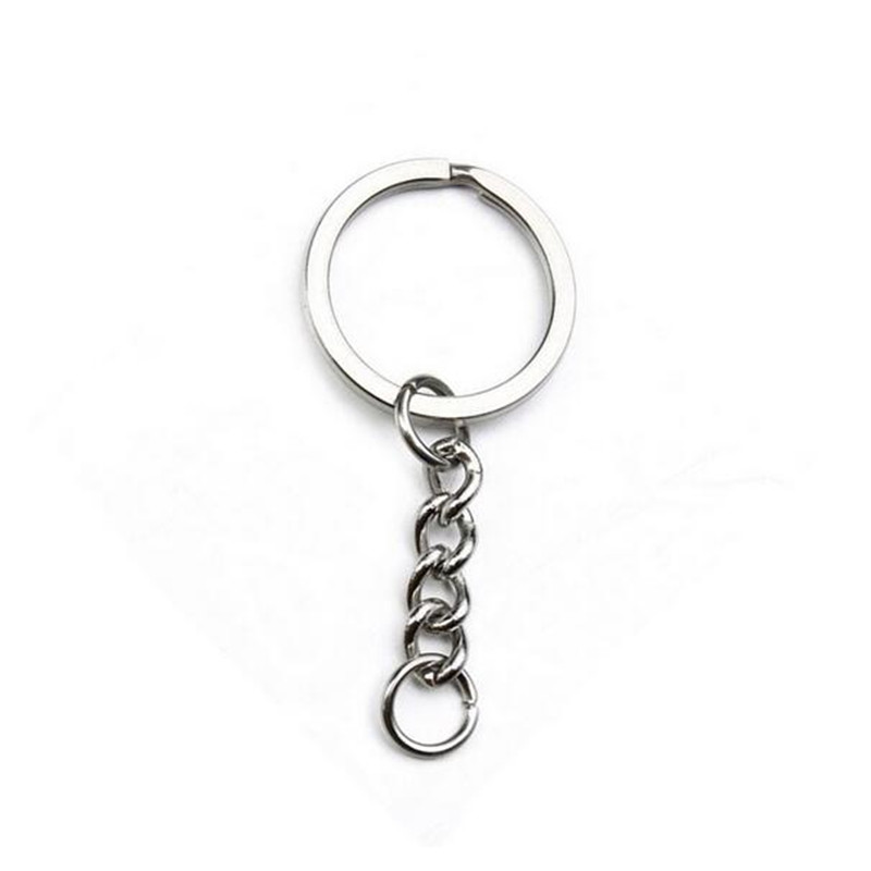 30pcs/lot 25mm Ring Rhodium Plated Key Ring Keychain Split Ring Key Chains Keyrings DIY Retro Fashion Keychains Accessories Z194