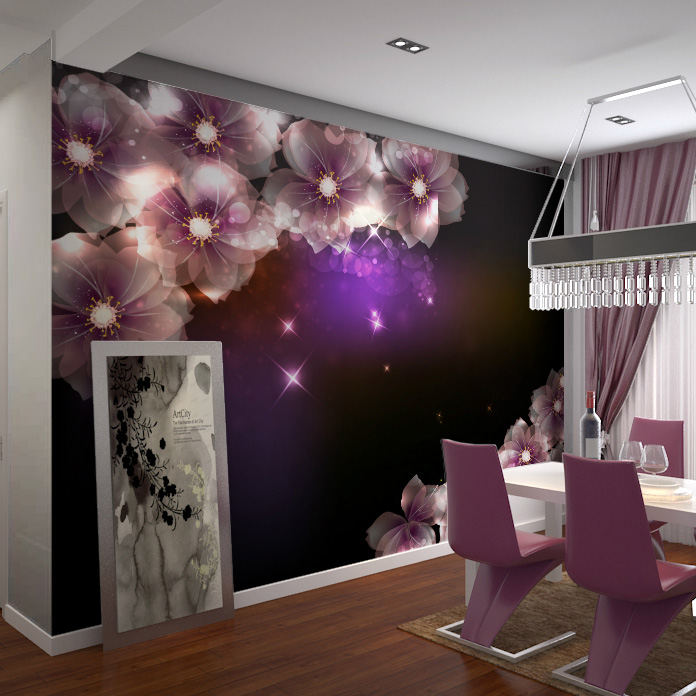 ethics of television advertisement large mural of the television background wall 3D wallpaper the living room sofa bedroom background romantic dream Sakura