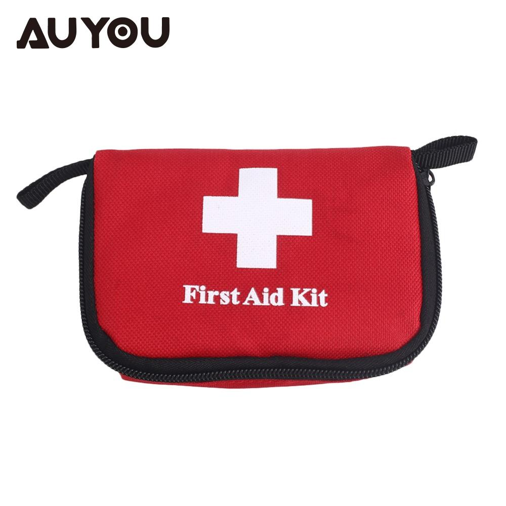 AUYOU Lightweight First Aid Kit Medical Emergency Bag Rescue Bag Portable Canvas Empty Camping Earthquake Travel Treatment Pack