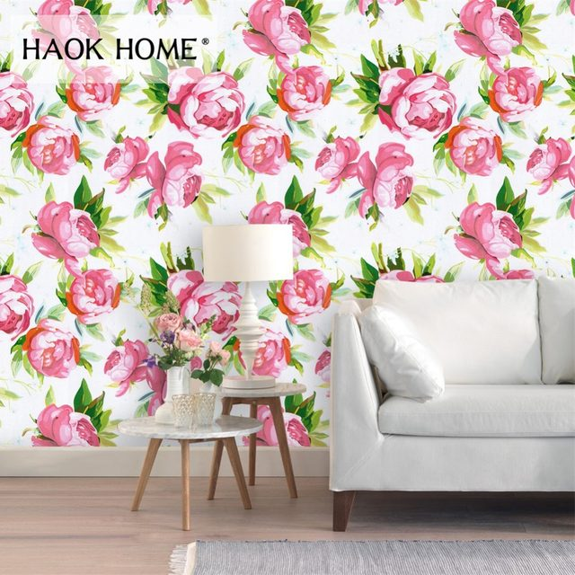 Online Shop HaokHome Retro 3d Flower wallpaper Self Adhesive Roll ...
