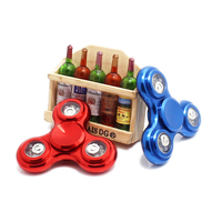 Funny LED Light Hand Finger Spinner Fidget Alloy EDC Hand Spinner For Autism And ADHD Relief