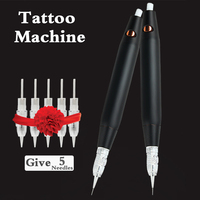 Tattoo Machine Pen Electric Rotary Tattoo Pen Eyebrow Lip Eyeliner Permanent Makeup Microblading 3D Embroidery Tattoo Needles