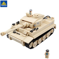 KAZI 995Pcs German King Tiger Tank Building Blocks Sets Compatible LegoINGLs Military WW2 Army Soldiers Bricks Toys for Children