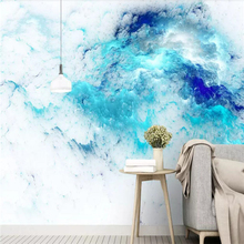 Decorative wallpaper Modern simple style Nordic abstract colorful cloud background wall