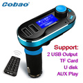 CDEN T66 Car MP3 Player With LCD Screen Dual USB Car Charger TF Card Solt FM Transmitter Remote Control Auto Audio Player
