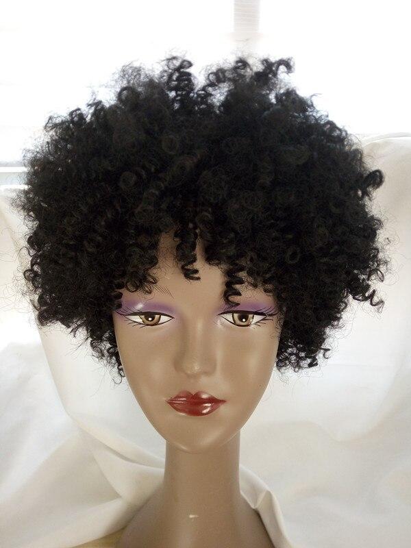 Hot Sale Black Color Curly Wig African American Black