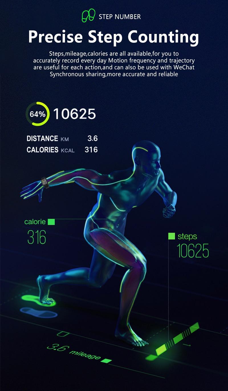 Smart watch B57, heart rate monitor, waterproof Step Counter