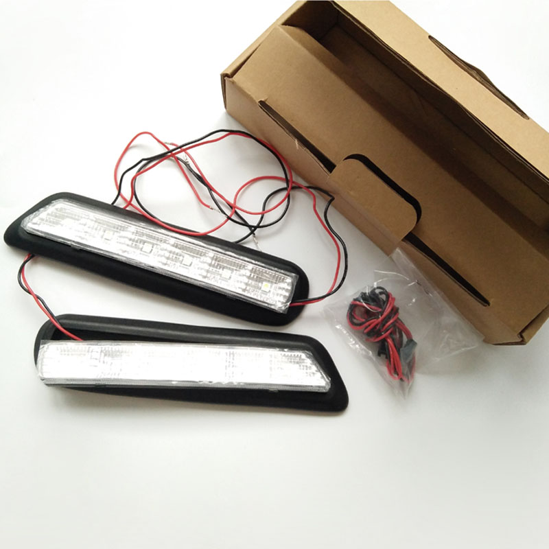 For Mitsubishi ASX 2011-2012 LED DRL Daytime Running Light Day Fog Light 2pcs/set купить хромированную окантовку рештки радиатора mitsubishi asx