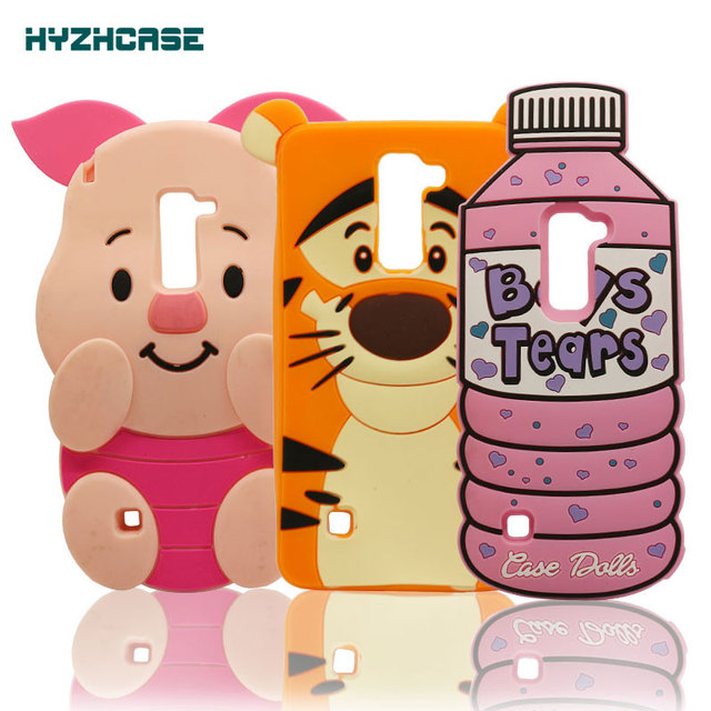 new concept ee9d2 6fb30 US $3.49 |Phone Case For LG G Stylo 2 LS775 K520 3D Cartoon Case Boys Tears  Bottle Pig Tigger Silicone Rubber back Cover For LG Stylus 2-in ...