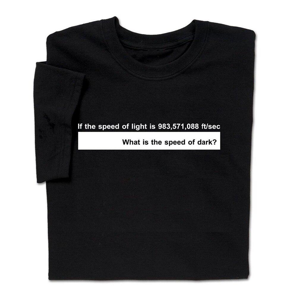 Funny Science Physics T Shirt Speed of Light Geek Nerd STEM Tee Men Funny casual streetwear hip hop printed T shirt