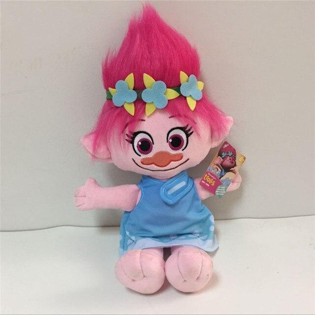 2016 New Arrival Movie Trolls Figures Poppy Branch Plush Toys Peluche Dolls Brinquedos Kids Xmas Gift 2pcs/lot 36cm