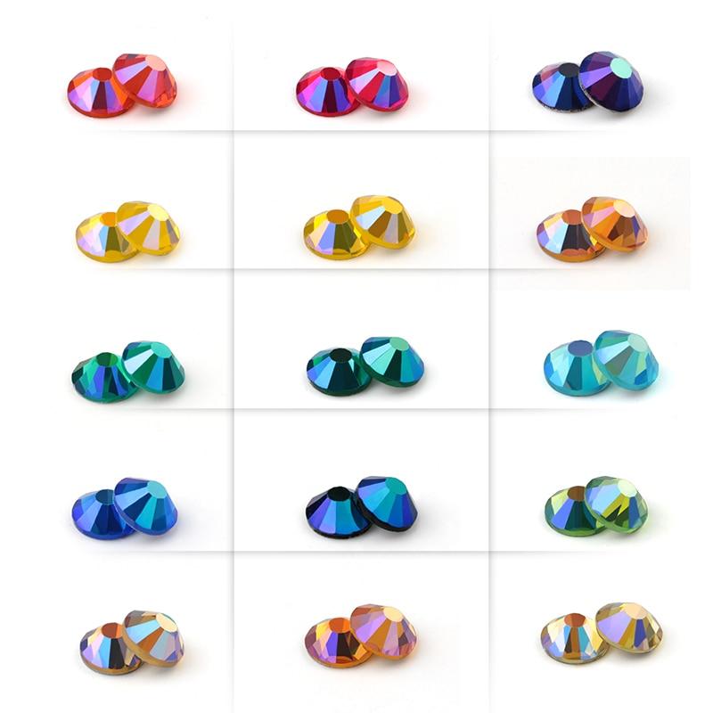 SS16 SS20 Glitter Rhinestone 1440pcs/pack Crystal AB Non Hot Fix Flat Back Rhinestone Apparel For Nail Art Fabric Garment
