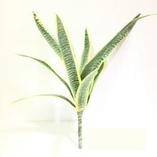 Tropical Desert Plants Artificial Flower Sansevieria Trifasciata Simulation Succulent Agave Plant Home Office Shop Garden Decor