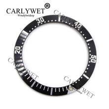 CARLYWET Wholesale High Quality Aluminum Black With White Writing Watch Bezel Insert for 2252