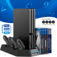 PS4/Slim/Pro Vertical Stand Cooling Fan Cooler Controller Charger Charging Dock for Sony Playstation 4 PS 4 Games Accessories