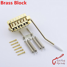 1 Set GuitarFamily Gold  Electric Guitar Tremolo System  Bridge With Brass Block  ( #1165 ) MADE IN KOREA