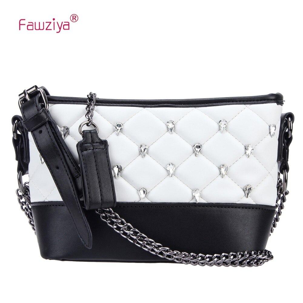 Fawziya Crystal Handbag Rhombus Crossbody Bags For Women Shoulder Bag