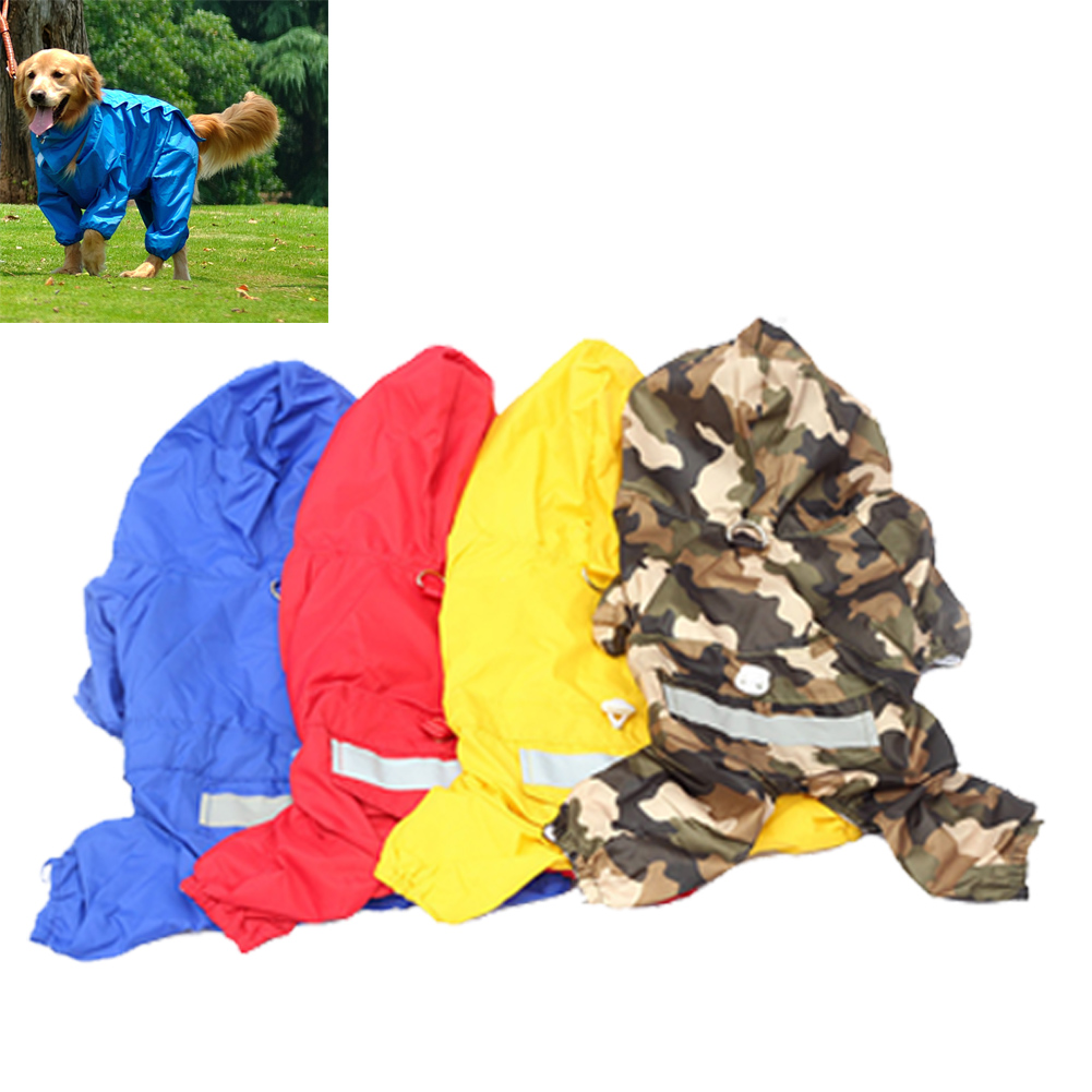 Superior Pet Raincoat With Hood Dubbelskikt vattentät design hund - Produkter för djur - Foto 2