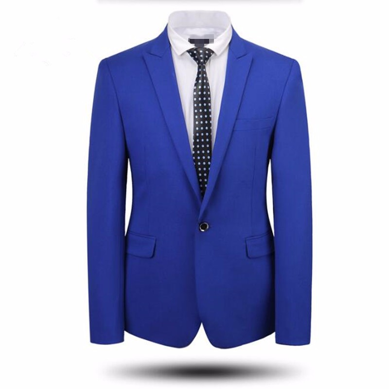 6.1Men suits jacket tailor made bridegroom wedding tuxedos jacket high quality solid color one button party prom  dress jacket