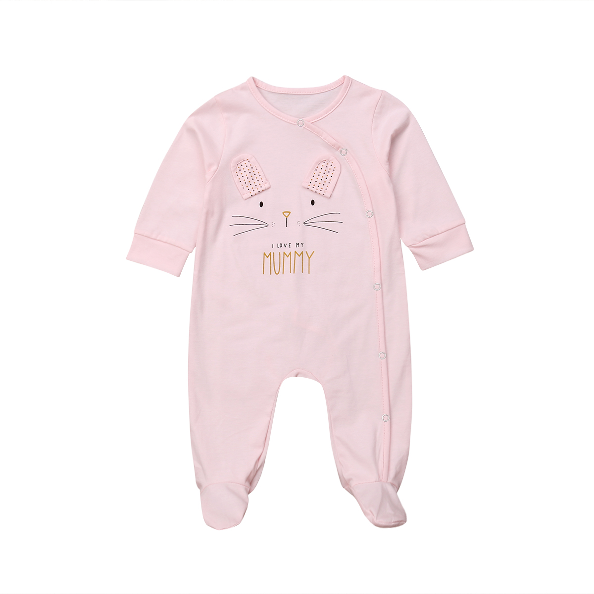 Infant Baby Girl Boys Long Sleeve Cartoon Bear Sleep suits Pajamas   Romper