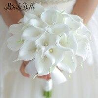 Винтажный 2017 на заказ белый букет калл Кристалл ручной свадебные цветы Искусственные Свадебные букеты Декор