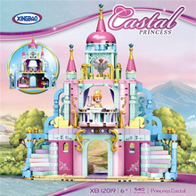 цена XINGBAO 12019 Friends Girls Series The Dream Princess Castle Set Building Blocks Educational Bricks Girls Toys Christmas Gifts