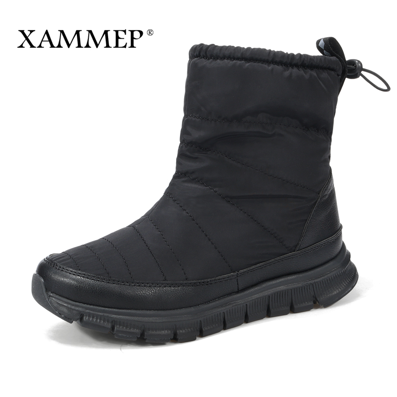 Women's Winter Shoes Brand Women Shoes Mid Calf Boots Plush And Wool High Quality Women Winter Boots Plus Big Size Xammep