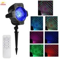 OOBEST Christmas Laser Light Star Outdoor Garden Decoration Waterproof IP65 Halloween Projector Laser Red Green Static