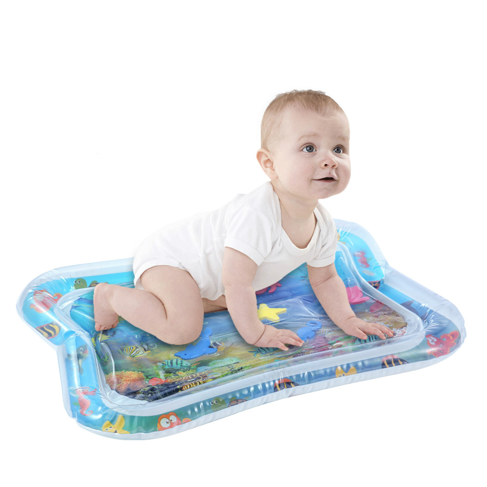 Creative Dual Use Water Play Mat for Kids Baby Inflatable Patted Pad Water Cushion Mat for Toddler Baby Fun Activity Play Center in Play Mats from Toys Hobbies