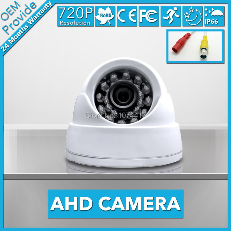 AHD2410R-TE  Security Camera 24 IR Light  720P High Definition 1.0MP  Dome Camera  With Good Night vision Indoor AHD Camera 4 in 1 ir high speed dome camera ahd tvi cvi cvbs 1080p output ir night vision 150m ptz dome camera with wiper