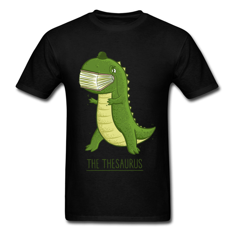 The Thesaurus Tops Shirts On Sale O - Neck Gift Green Dino Cotton Men's T Shirts Very Comfortable Tops Shirts Mens Top Quality image