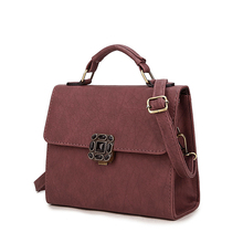 Small Flap Bag Push Lock Ladies font b Handbag b font Litchi Stria PU Leather Retro