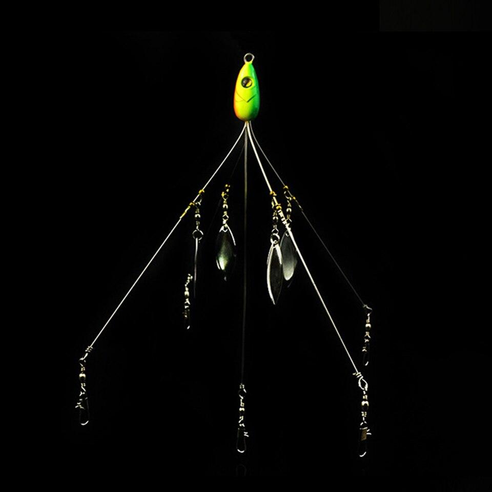 MARCHER POISSONS 1 PCS Alabama Parapluie De Pêche Rig Leurre 21.5 cm 18g De Pêche Leurre Inoxydable Émerillon avec Spinner pêche en mer