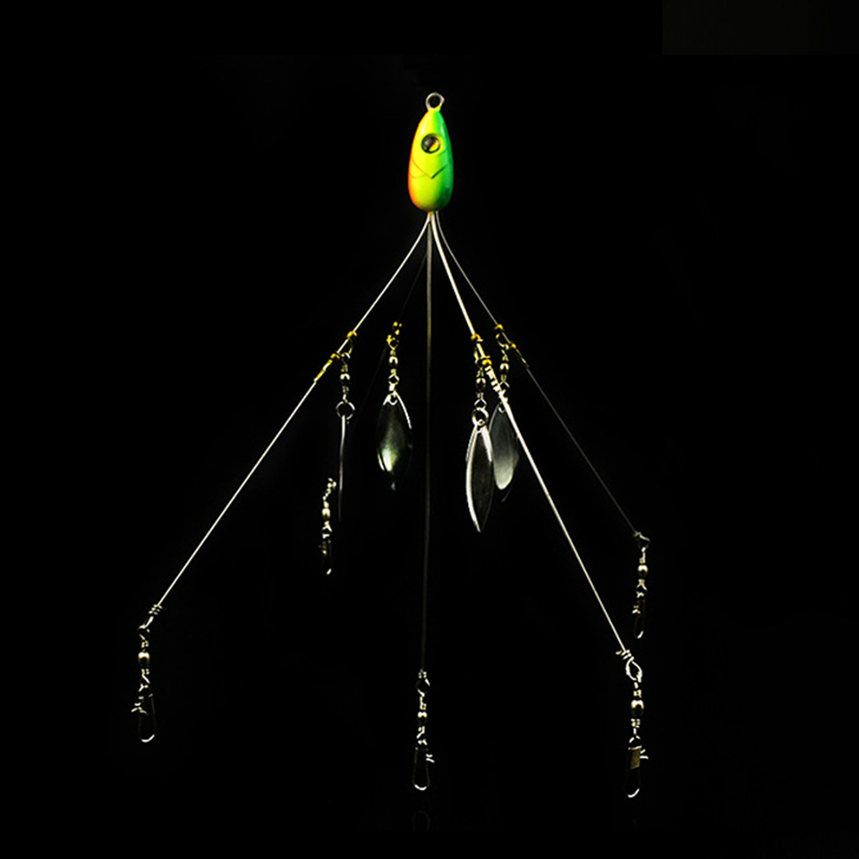 WALK FISH 1PCS Alabama Paraply Fiske Rig Lure 21.5cm 18g Fiske Lure - Fiske