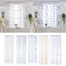 100x130 см круглый узор прозрачный занавес Белый прозрачный тюль оконные экраны лечебный светильник вуаль драпировка декор для кофейни