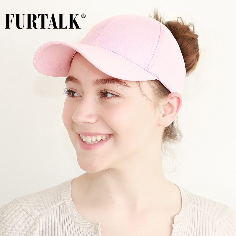 FURTALK New Arrivals Ponytail Baseball Cap Women Messy Bun Baseball Hat Snapback HTPU007 1