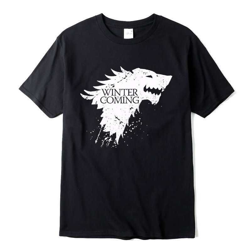 Stark cotton short sleeve Game of Thrones Men   T  -  shirt   casual men tshirt Tops Tees WINTER IS COMING MEN   T     shirt   2018