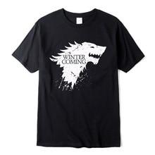 Stark cotton short sleeve Game of Thrones Men T-shi