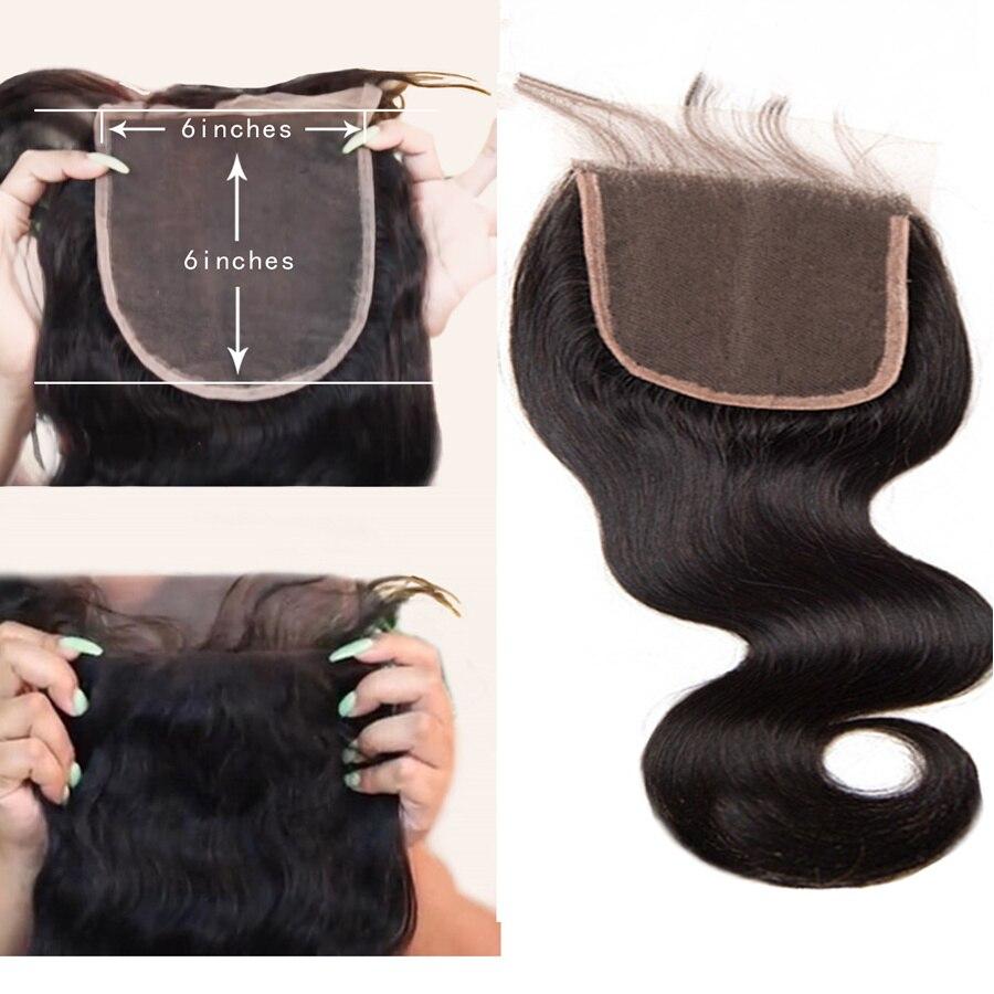 """6 × 6 閉鎖 RXY ブラジル実体波閉鎖 100% 人間の毛髪で事前摘み取ら 8 """" 20"""" 高速配送  グループ上の ヘアエクステンション & ウィッグ からの クロージャー の中 1"""