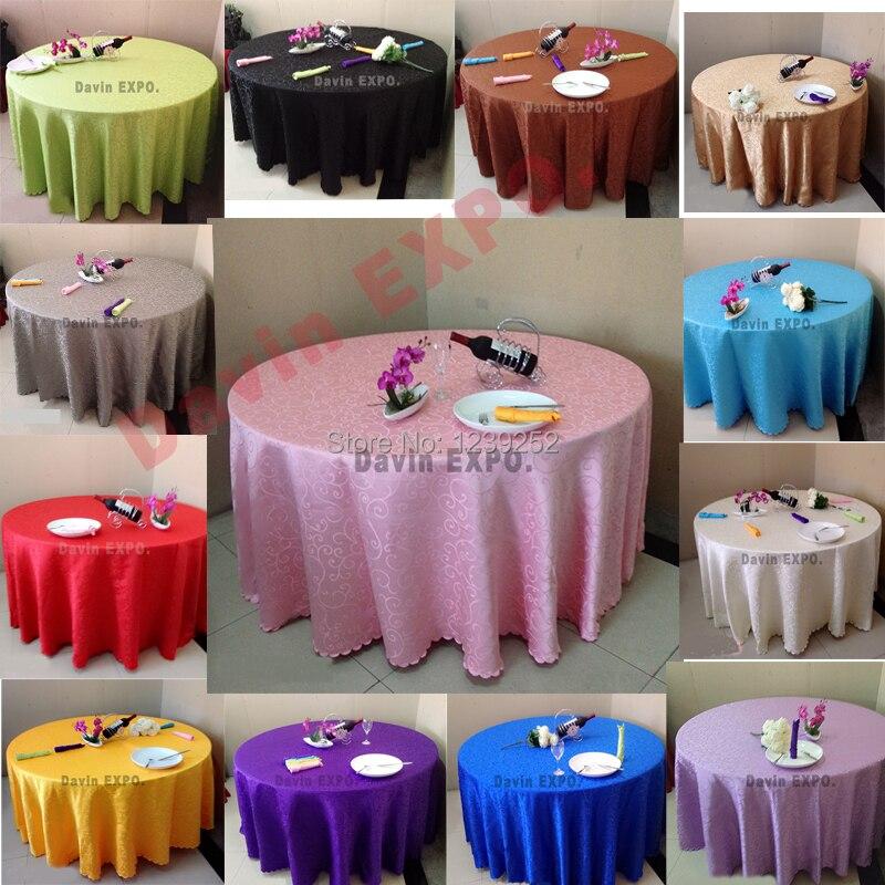 UNDASA 94 인치 라운드 자카드 테이블 천 연회 폴리 에스테르 식탁보 웨딩 파티 호텔 홈 DIY 축제 장식