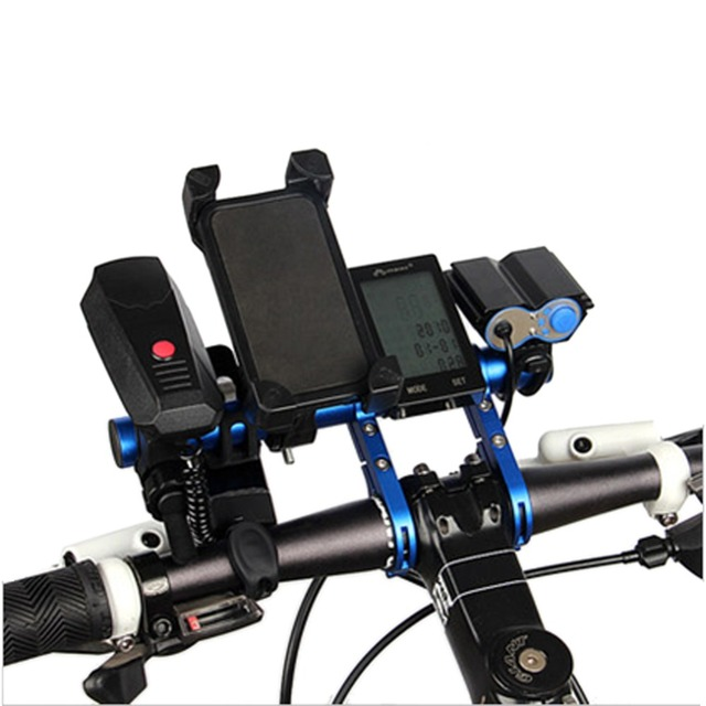 20CM Carbon Tube Bicycle Handlebar Extender Mount Mountain MTB Bike Cycling Headlight Bracket Lamp Flashlight Holder