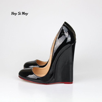 14cm Sexy Big Yards Metal Heel Round Toe Female High Heels 8 5 15 5