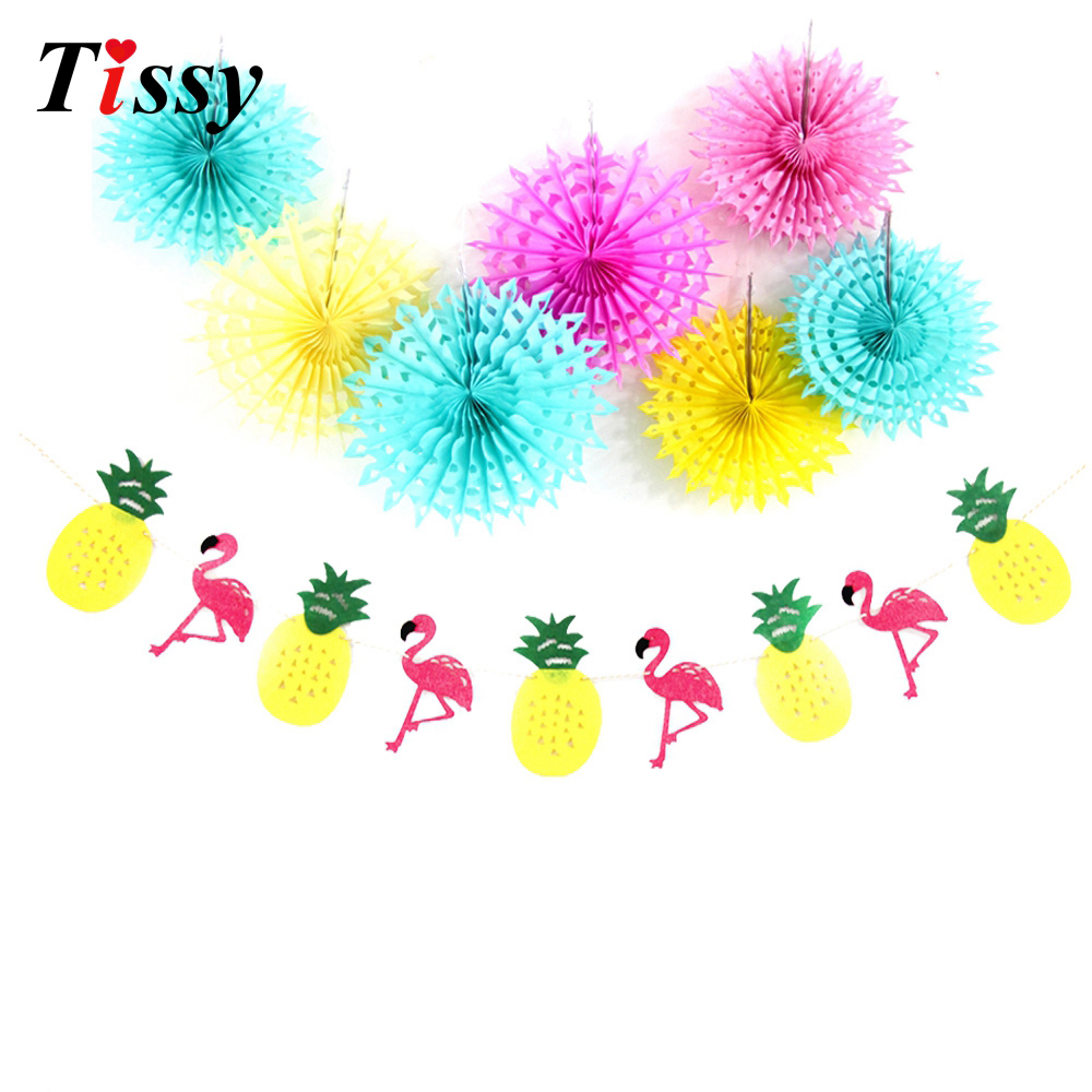 Colorful paper flowers pom poms hollow paper fan flamingopineapple diy paper flowers pom poms hollow paper fan flamingopineapple banner garlands summer pool hawaiian party flaminglo izmirmasajfo Gallery