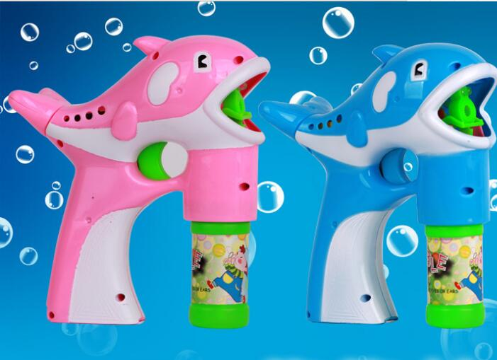 Aitesen Children cartoon dolphin and elephant Shape electric toy plastic bubble gun Blue outdoor toys children/'s toys Bubble Gun