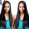 Pelo liso sin cola del frente del cordón pelucas del pelo humano 250% densidad del frente del cordón pelucas negro mujeres sedosa camboyanos virgen peluca de pelo