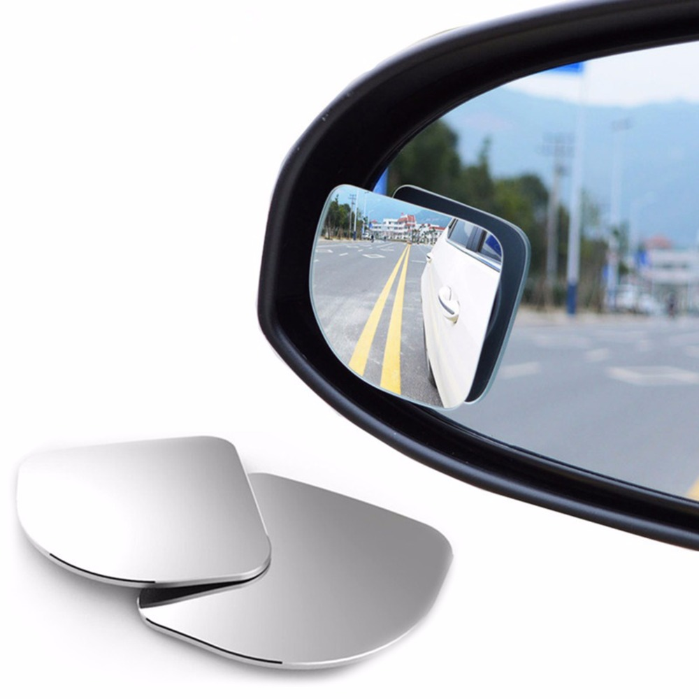 2pcs/lot New 360 Degree Car Rearview Mirror Wide-angle Round Convex Lens Parking Mirror Rearview Mirror Rain Cover Auto Parts