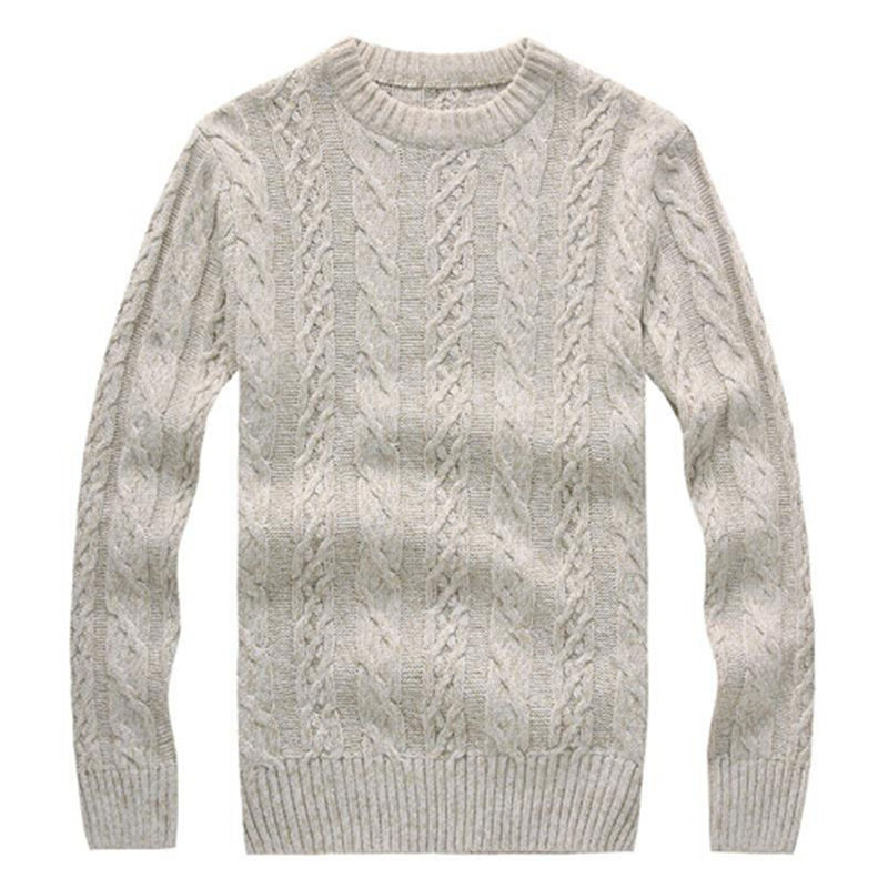 AILOOGE 2017 Long Sleeve Fashion British Style Men Sweaters O-neck Pullover Sweater Autumn Winter Male Twisting Knitwear Jumpers