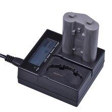 Chargeur rapide intelligent pour appareil photo reflex numérique Nikon D4,D4S,D5, 1 pièce, batterie 3200mAh EN-EL18 EN-EL18a EN EL18 ENEL18a avec écran LCD