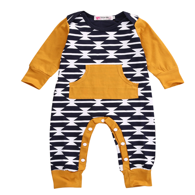d75f44e166ca Baby Children Clothes Romper NEW Baby Boys Harem Romper Long Sleeve ...