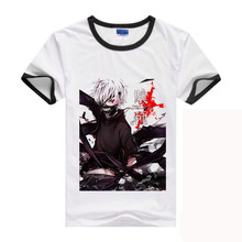 XHTWCY 2017 New Arrive Free Shipping Tokyo Ghoul Kaneki Ken Anime Cartoon Cosplay T Shirt